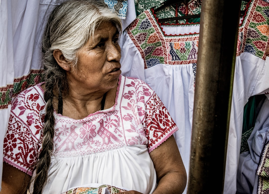 Mexican selling cloth, Cuetzalan