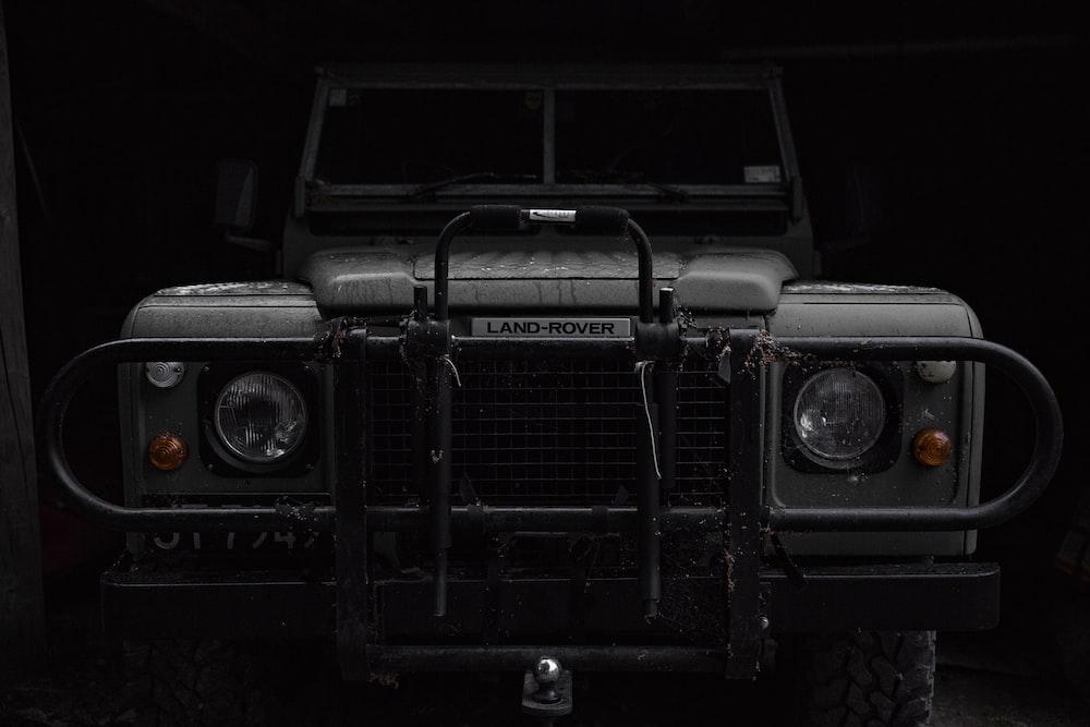 gray Land Range Rover vehicle