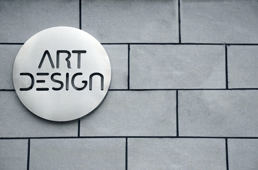 Art Design signage on wall