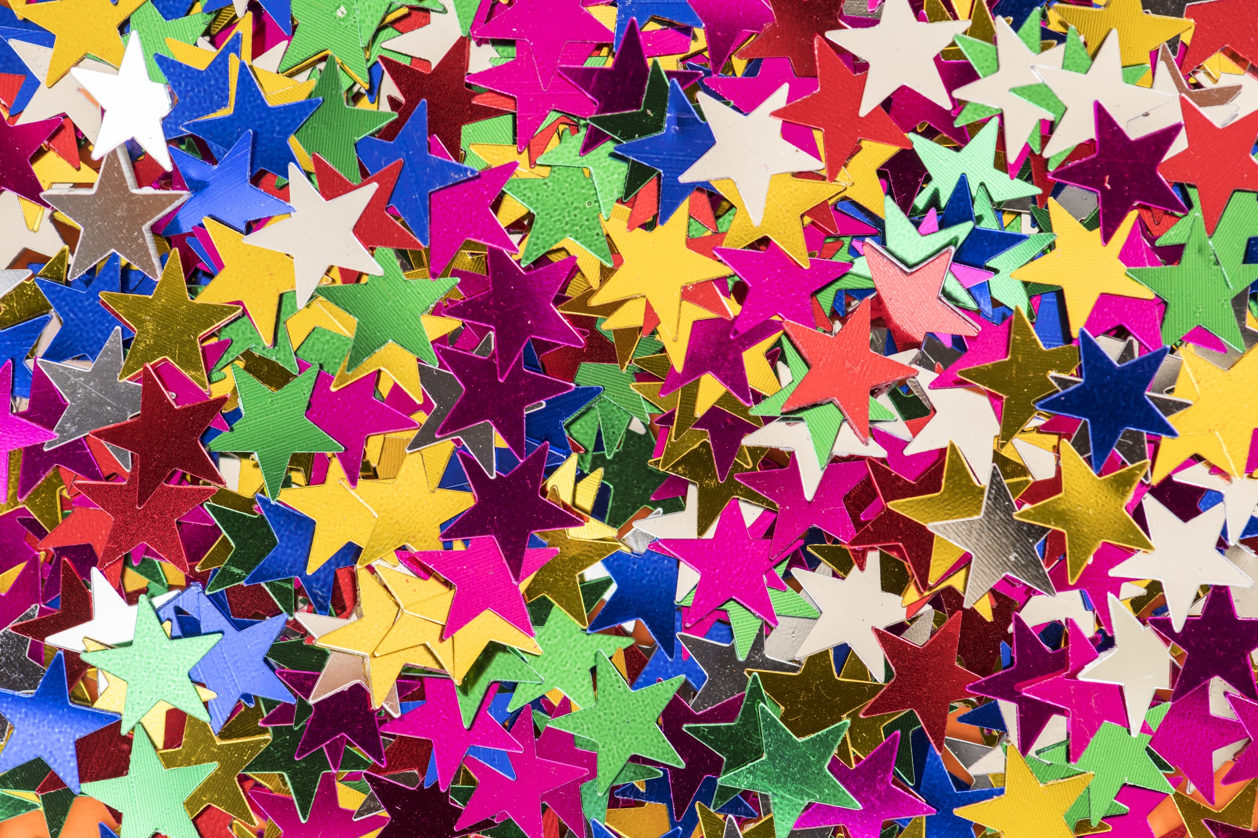 multi-colored star decors
