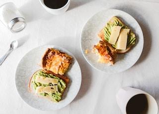 sandwich on white ceramic plate