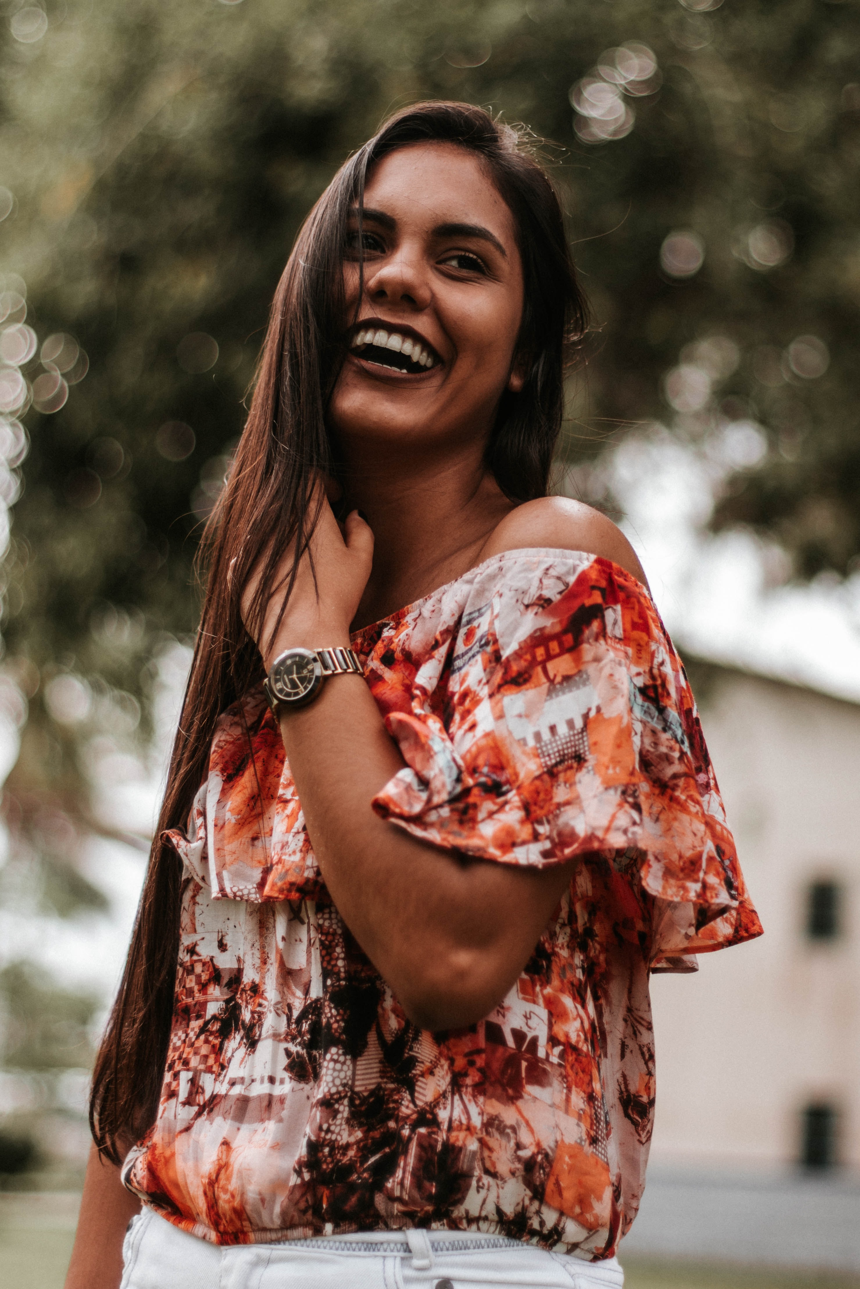 selective focus photograph of smiling woman