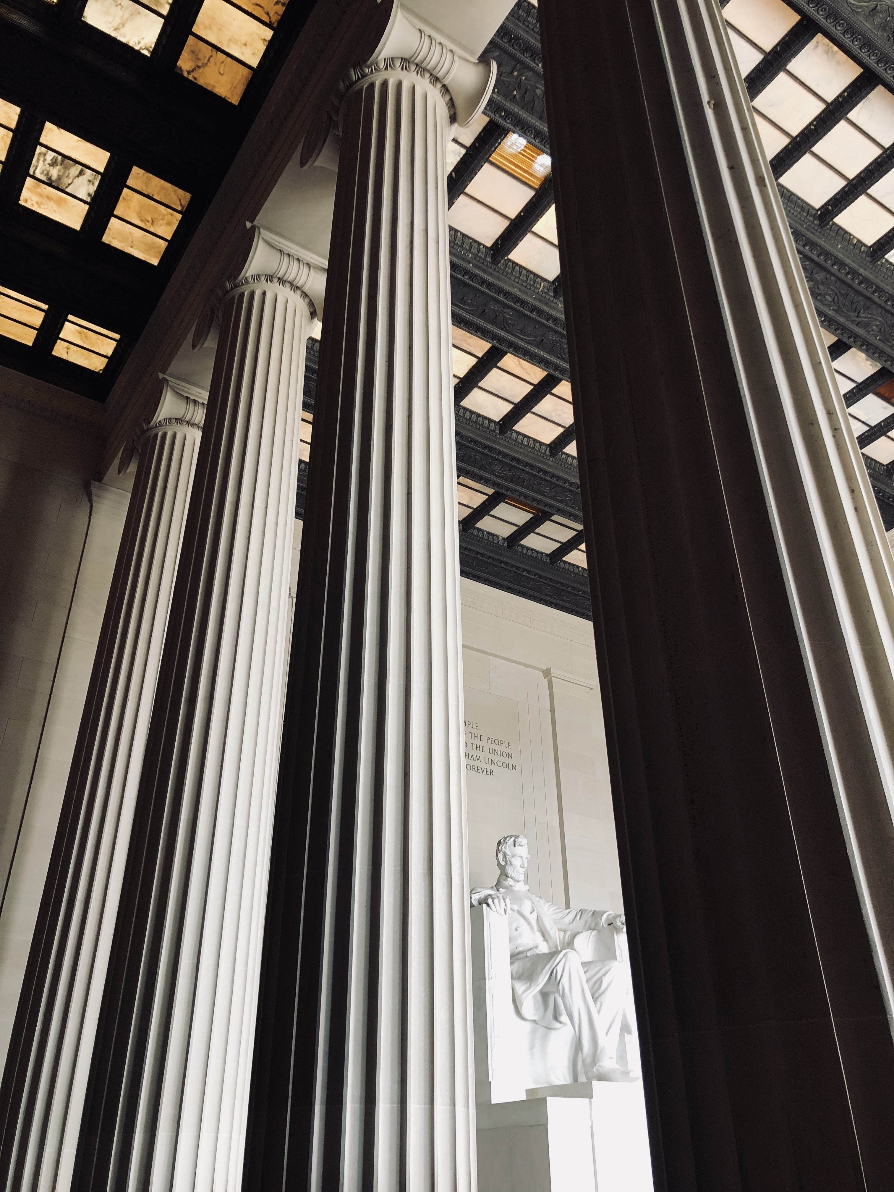 gray concrete pillars