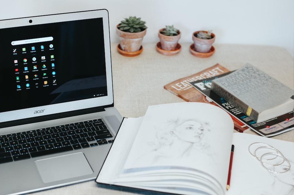 gray Acer laptop