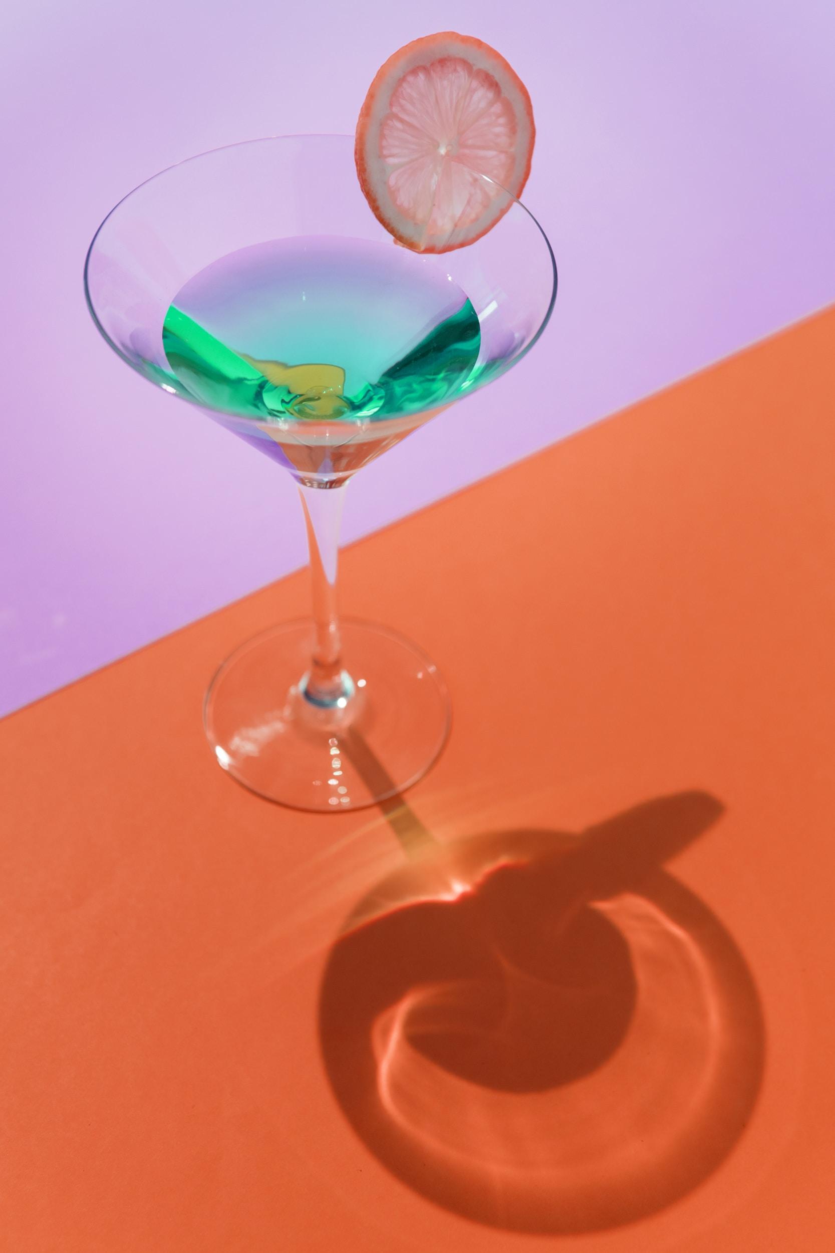 clear martini glass