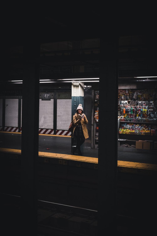 woman near store