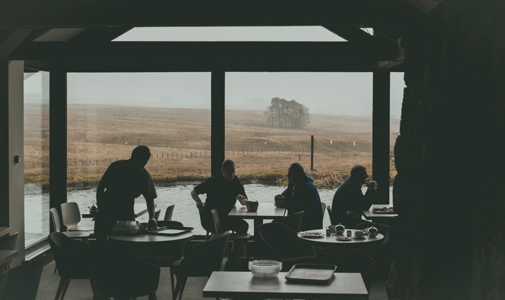 group of people inside restaurant