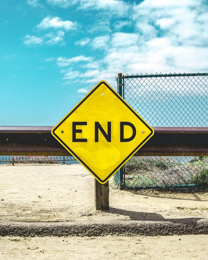 The End photo by Matt Botsford on Unsplash