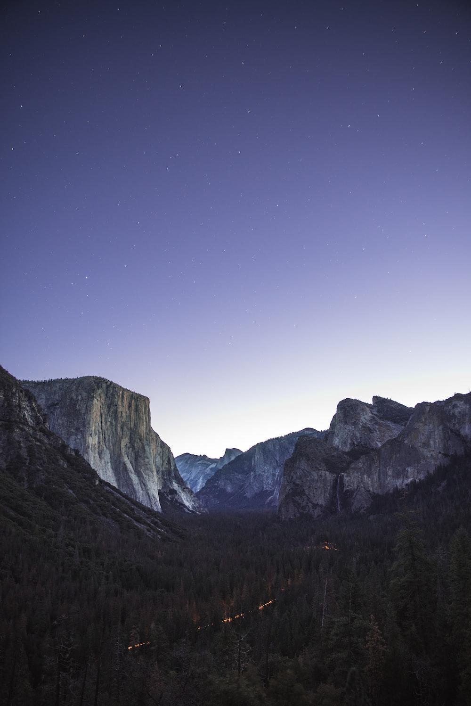 photo of Yosemite national park during night
