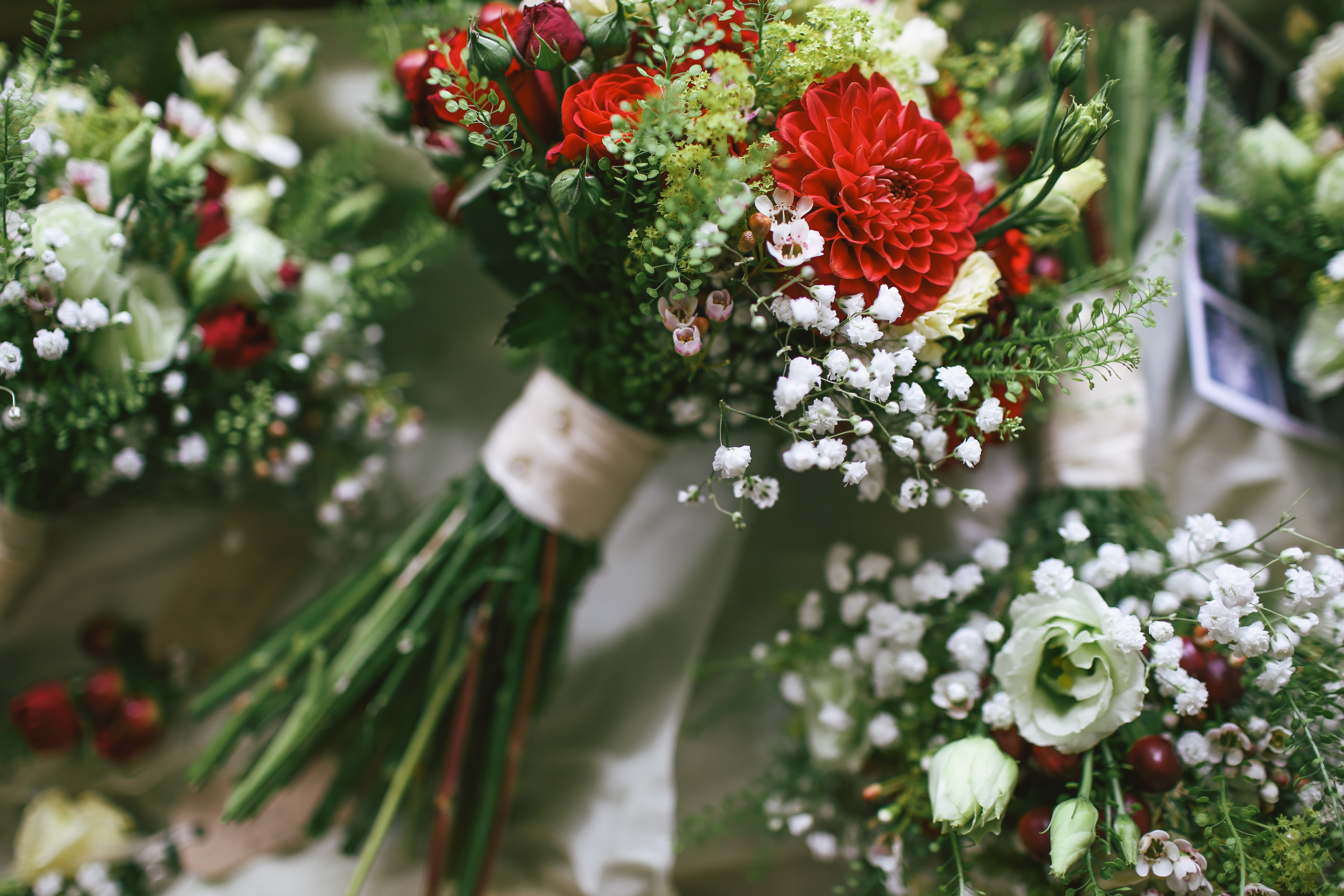 assorted flower bouquets