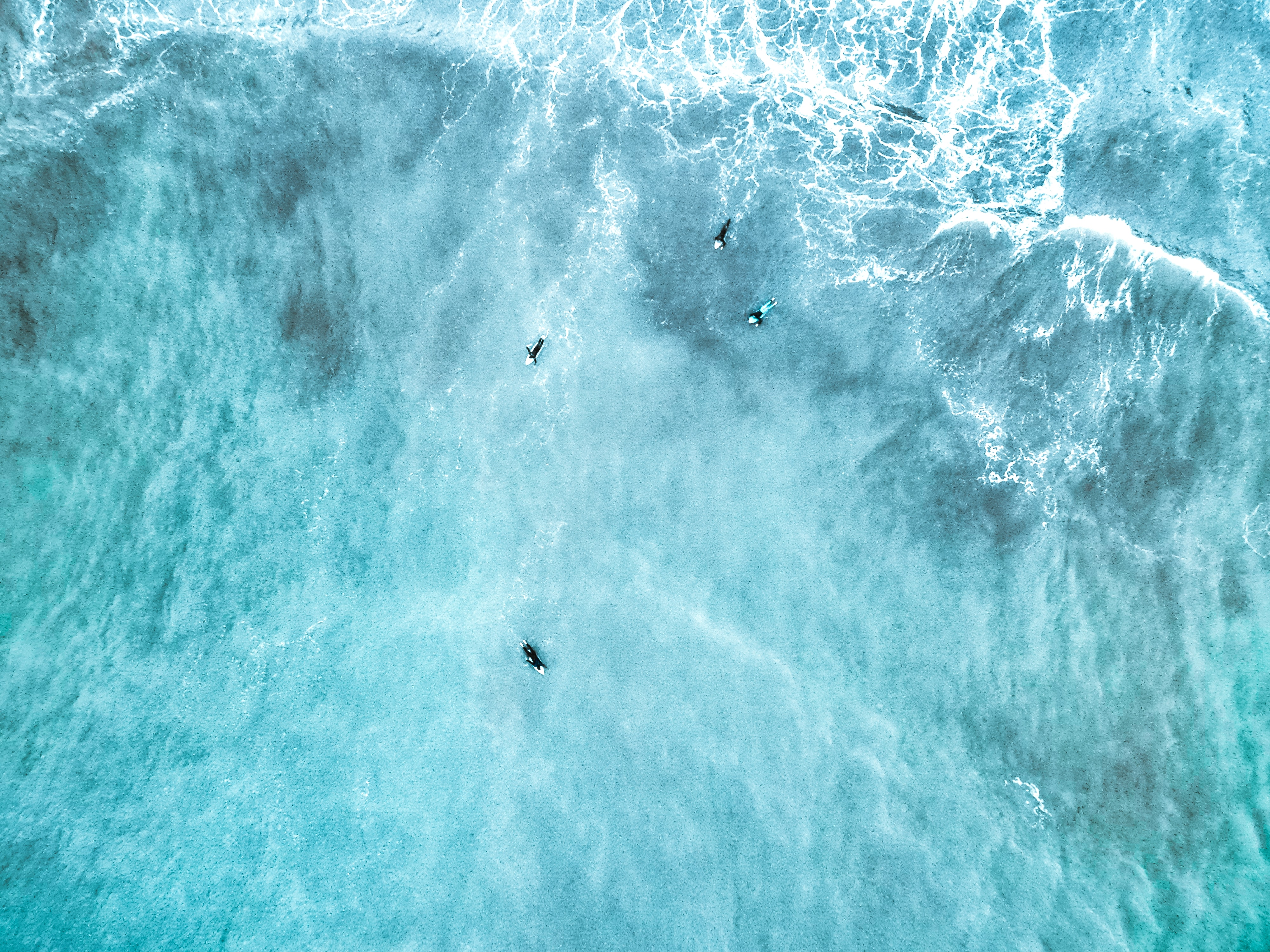 bird's eye view photography of person surfing