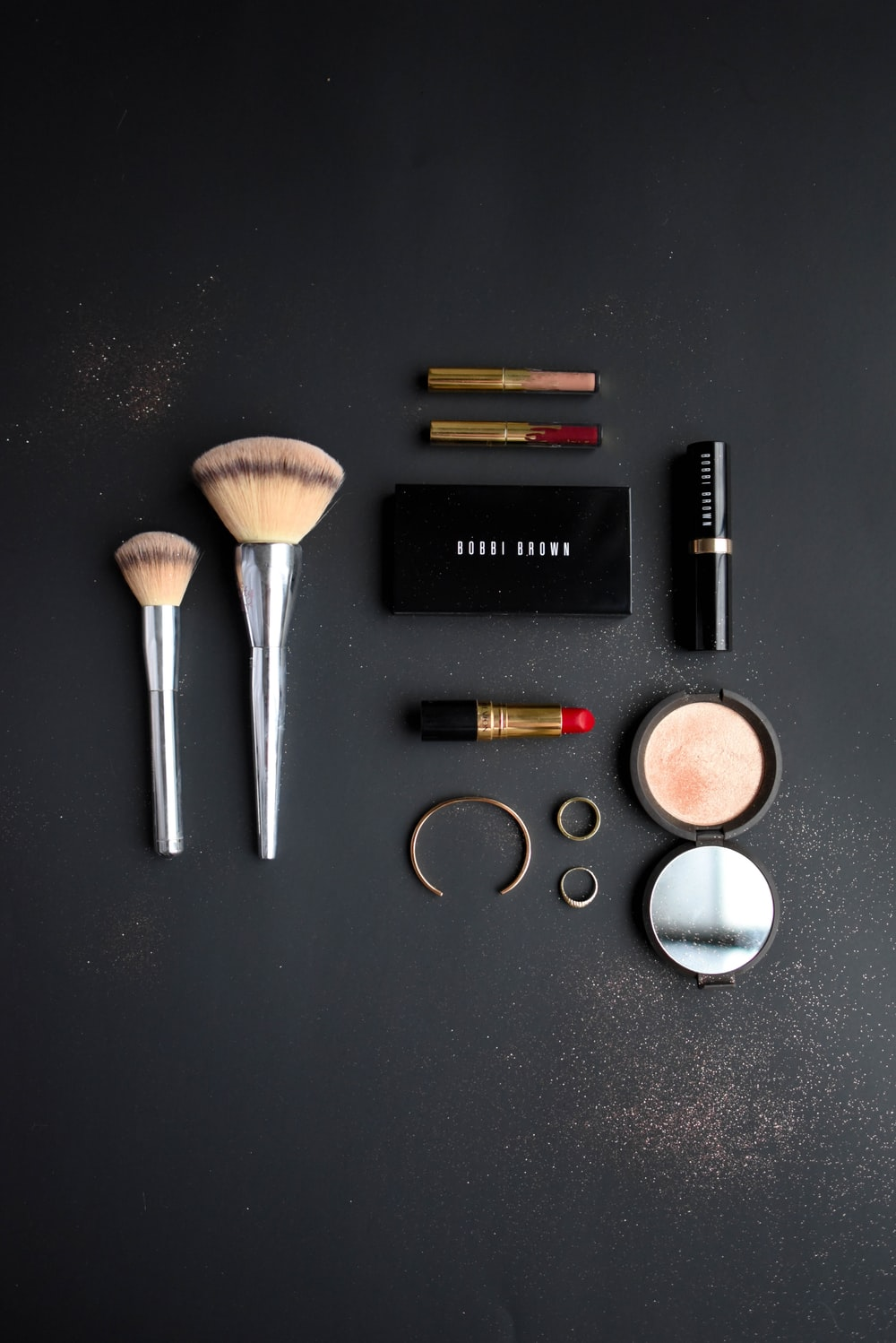 assorted makeup collection