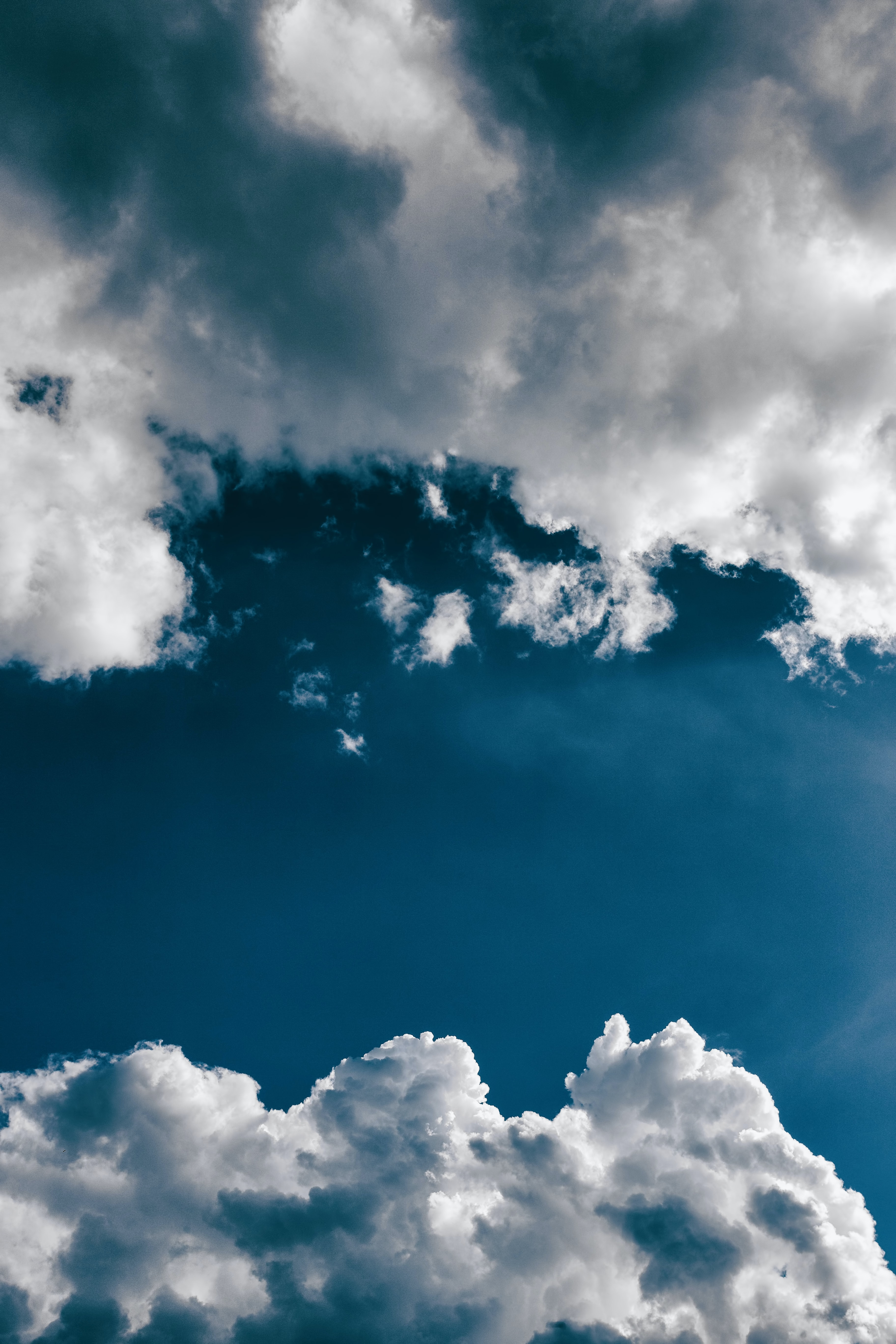 low angle photography of white clouds