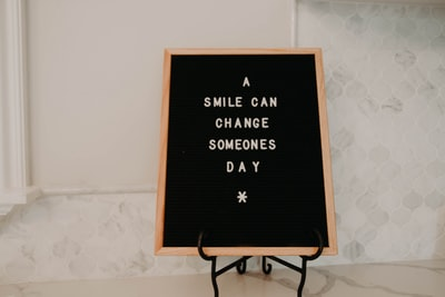 a smile can change someones day text happiness zoom background