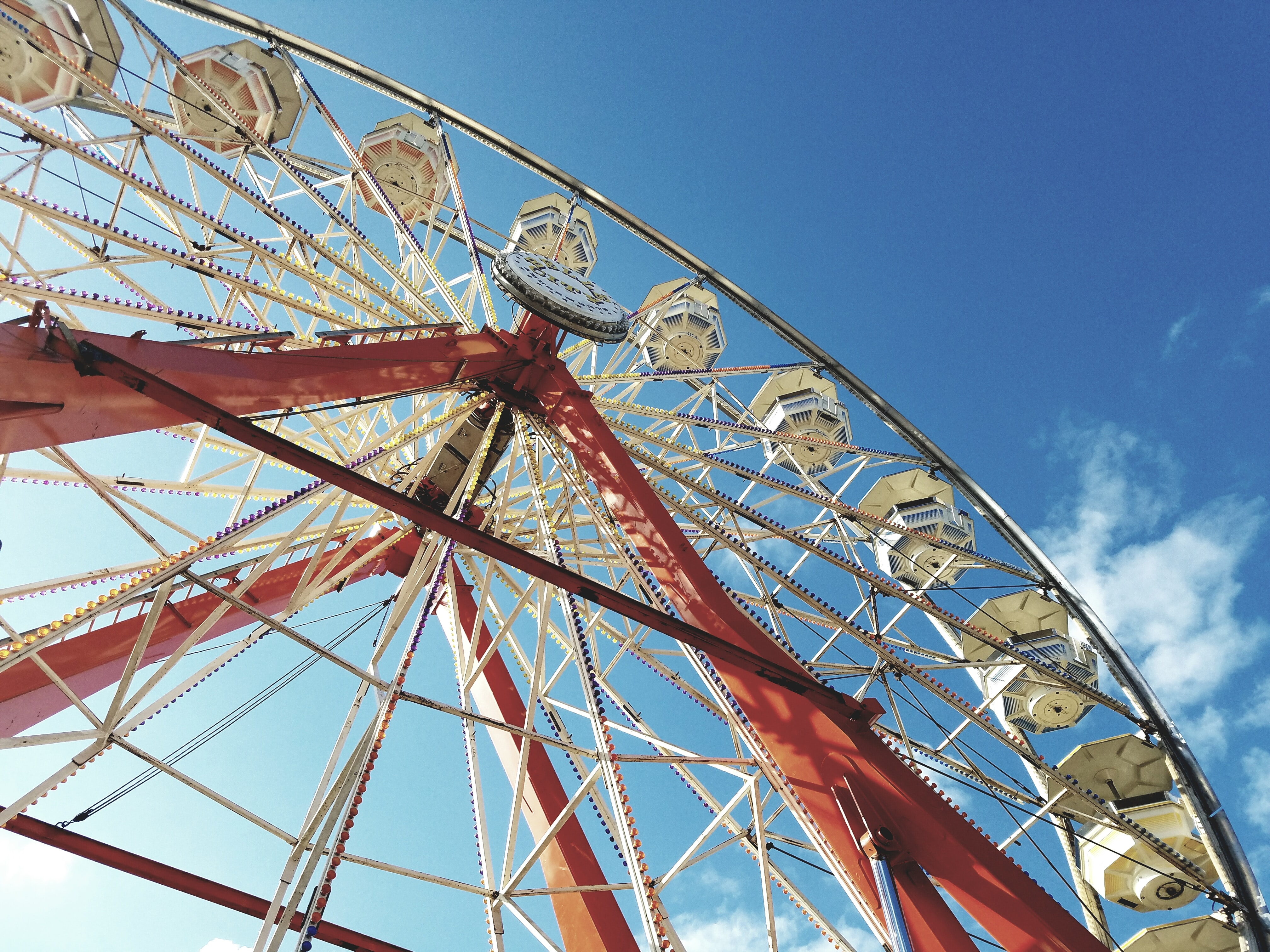 high angle photo of ferris wheel