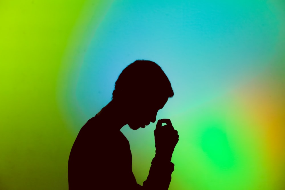 silhouette photography of man illustration