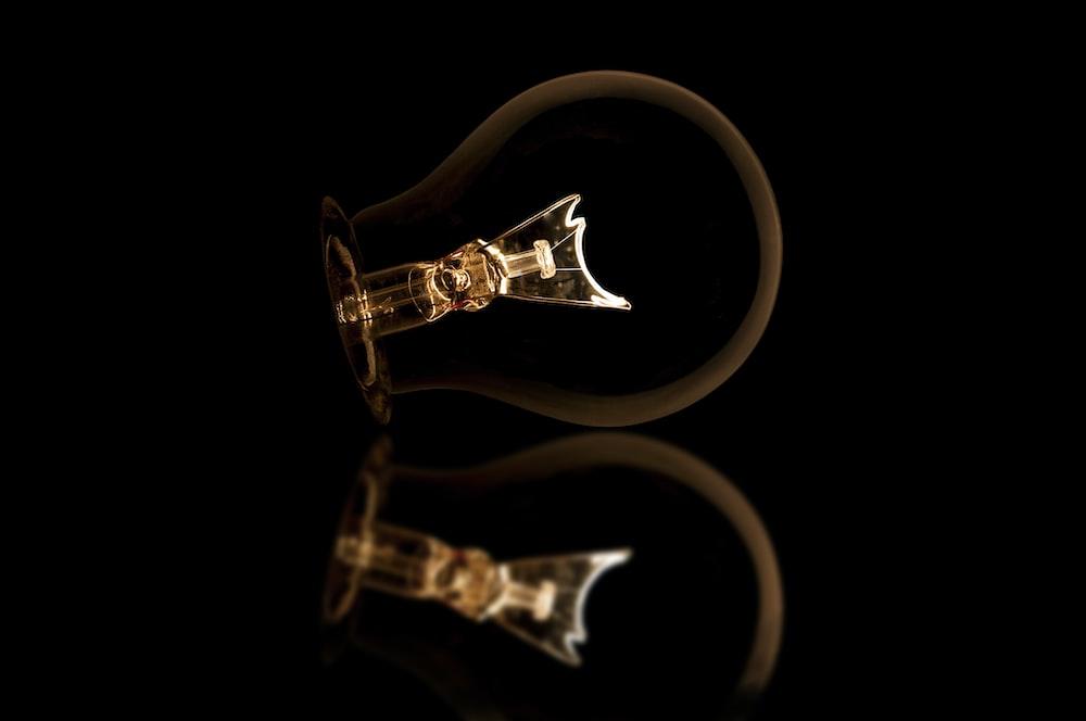 two clear light bulbs