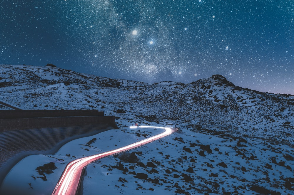 timelapse photo of road during nighttime
