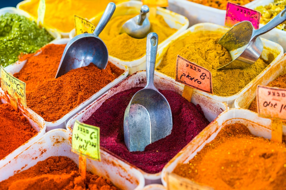photography of food powders