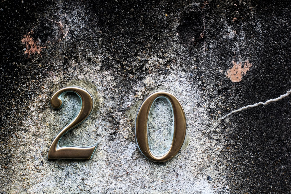20 number emblem