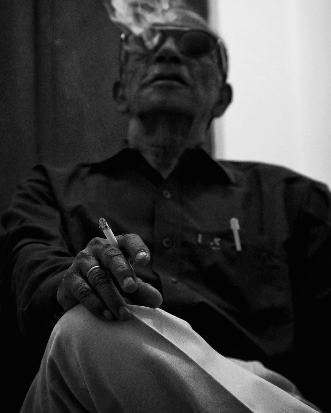 He is my grandfather. I want him to pose for my portfolio.