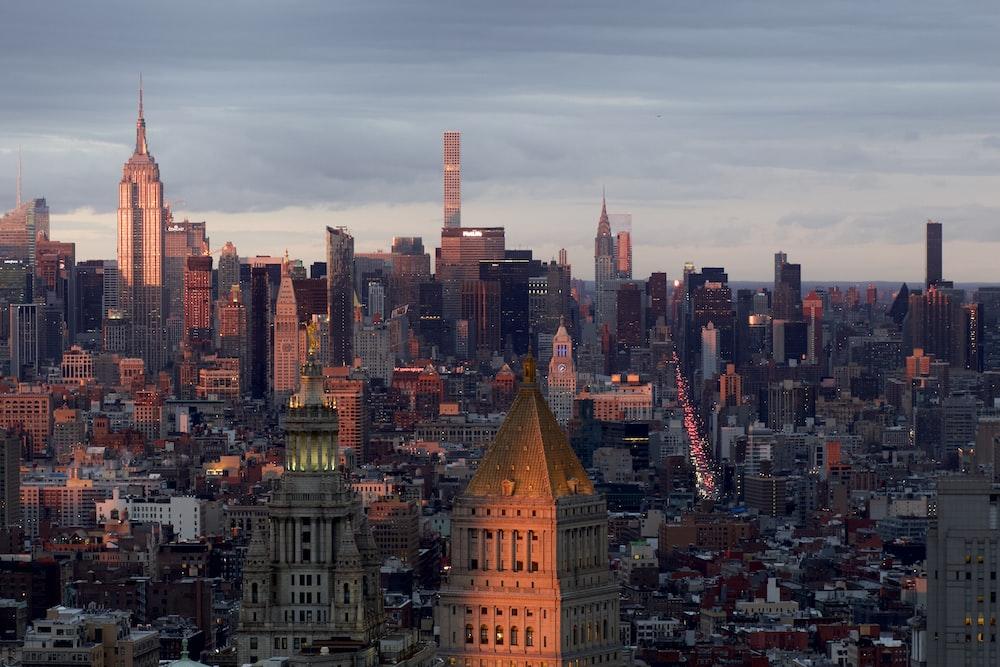 bird's eye photography of New York city skyline