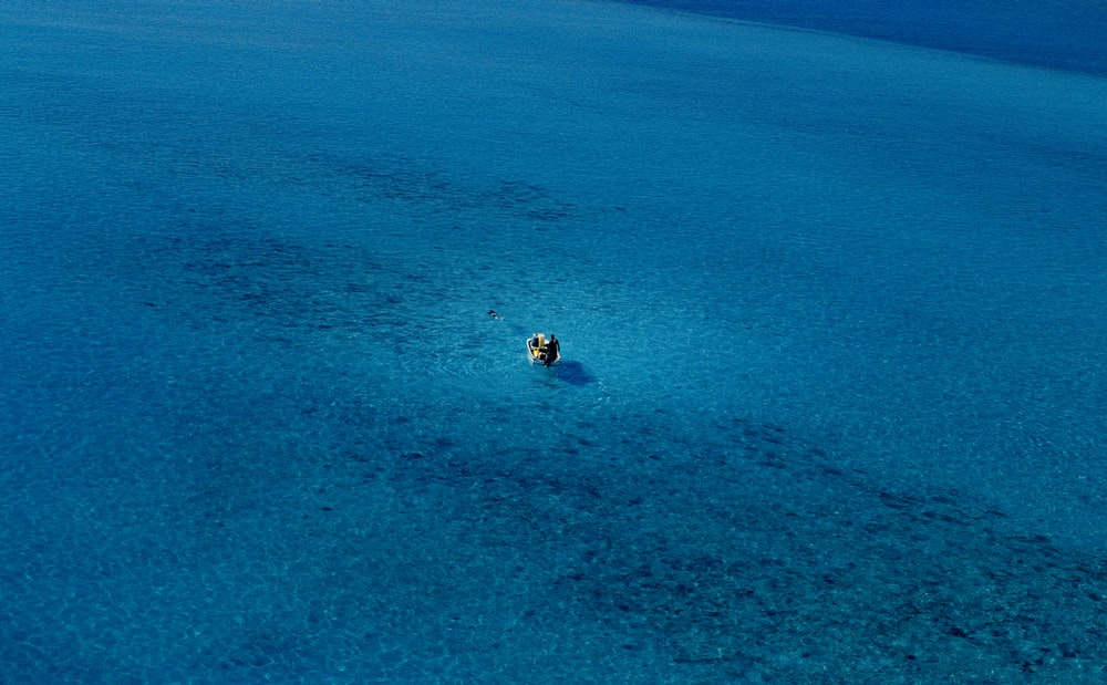 boat in the middle of the sea