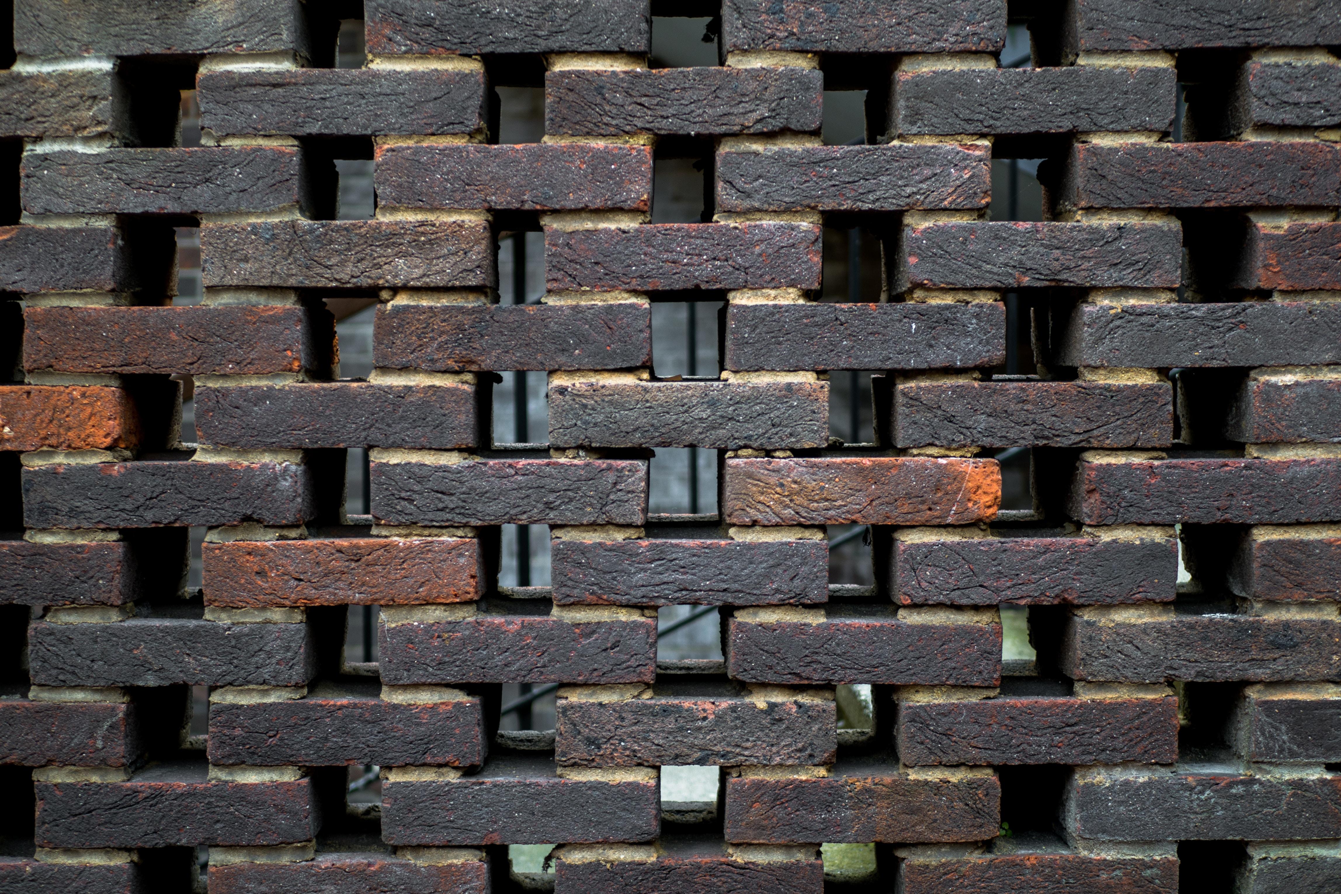 piled concrete bricks
