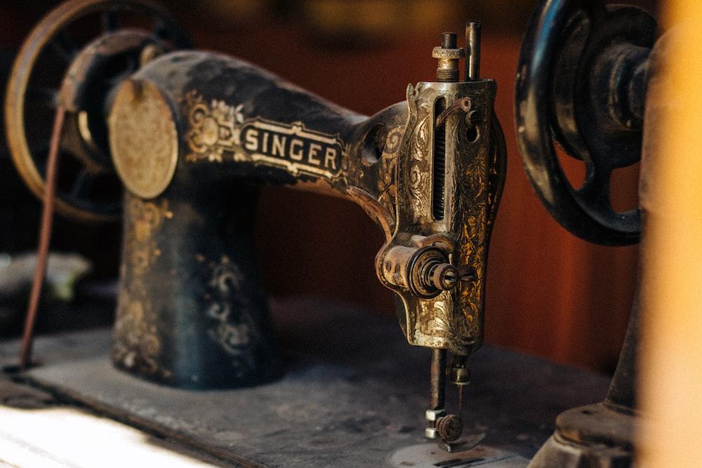 black treadle sewing machine