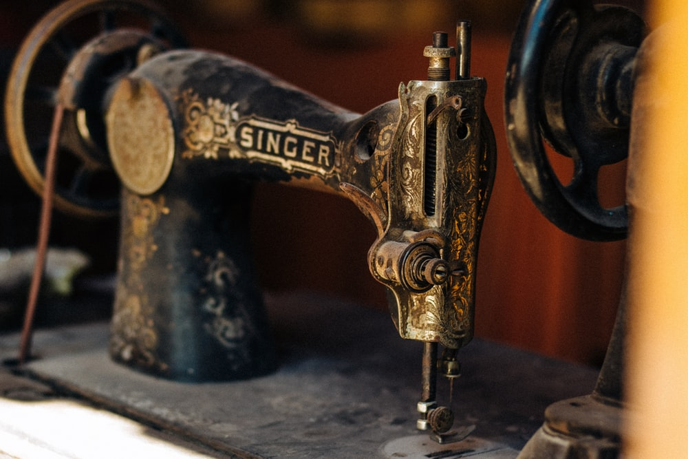black treadle sewing machine
