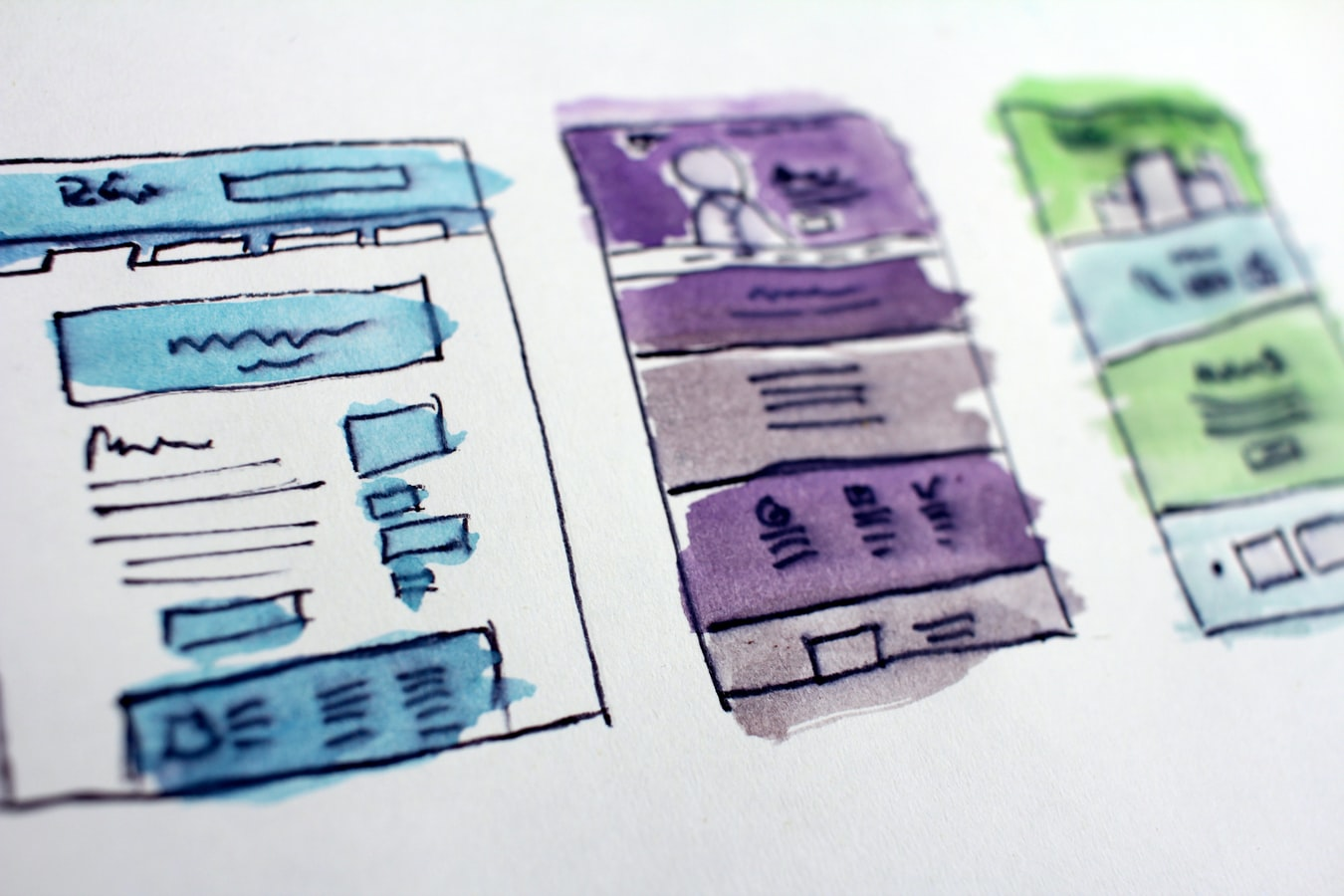 Get a new website fast by designing how you want it to look like. All you need is a pen, a paper and a good sense of what your users would like.
