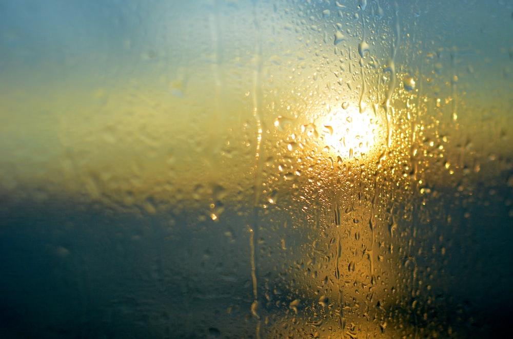 water dews on window