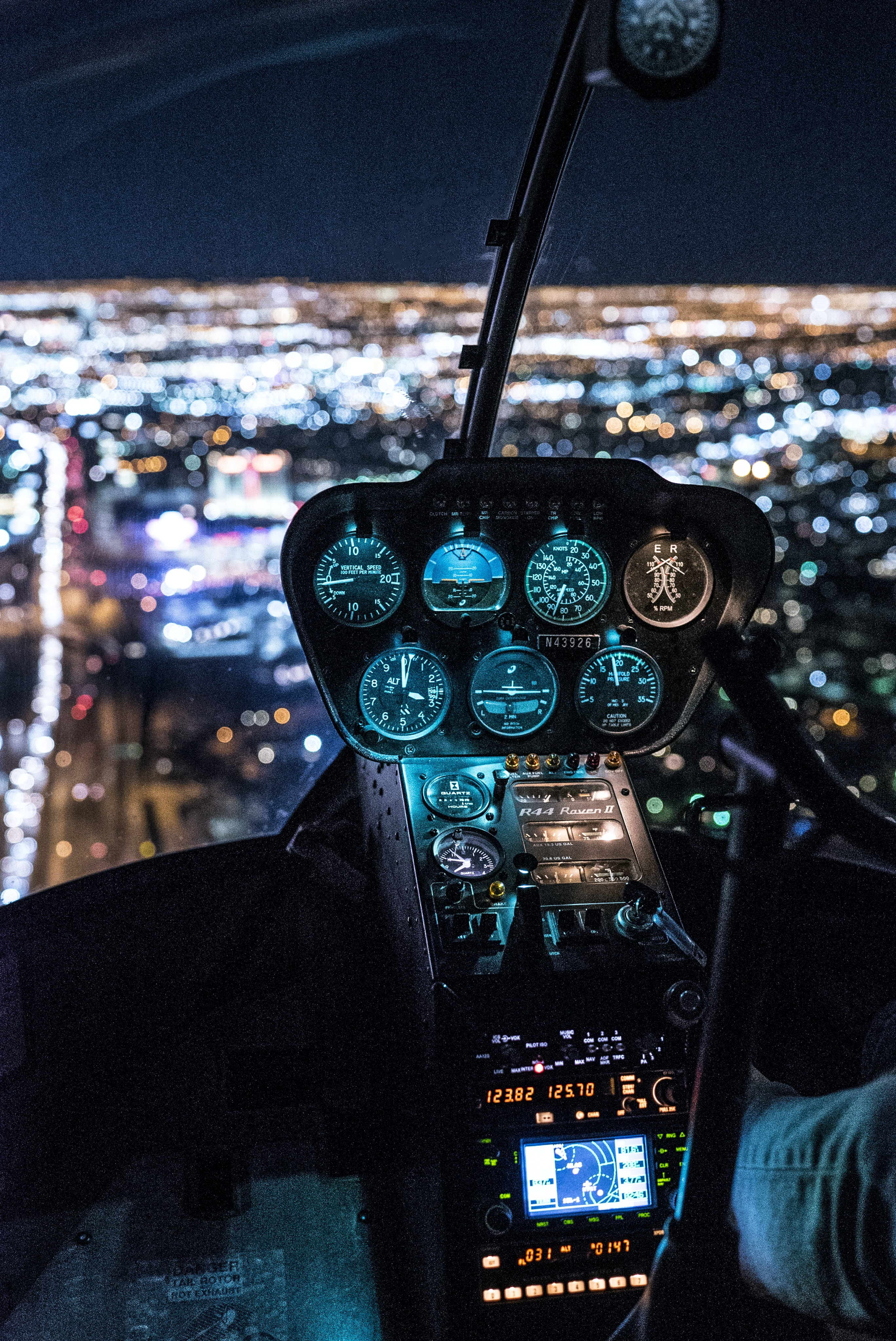 view of helicopter cockpit