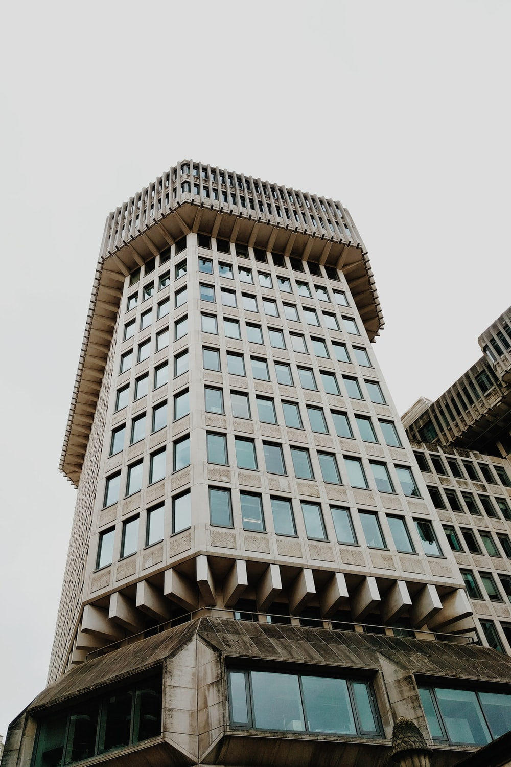 low-angle photography of building at daytime