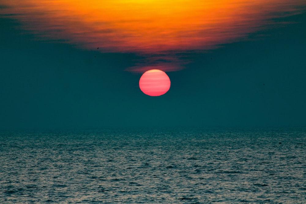 sunset view on ocean