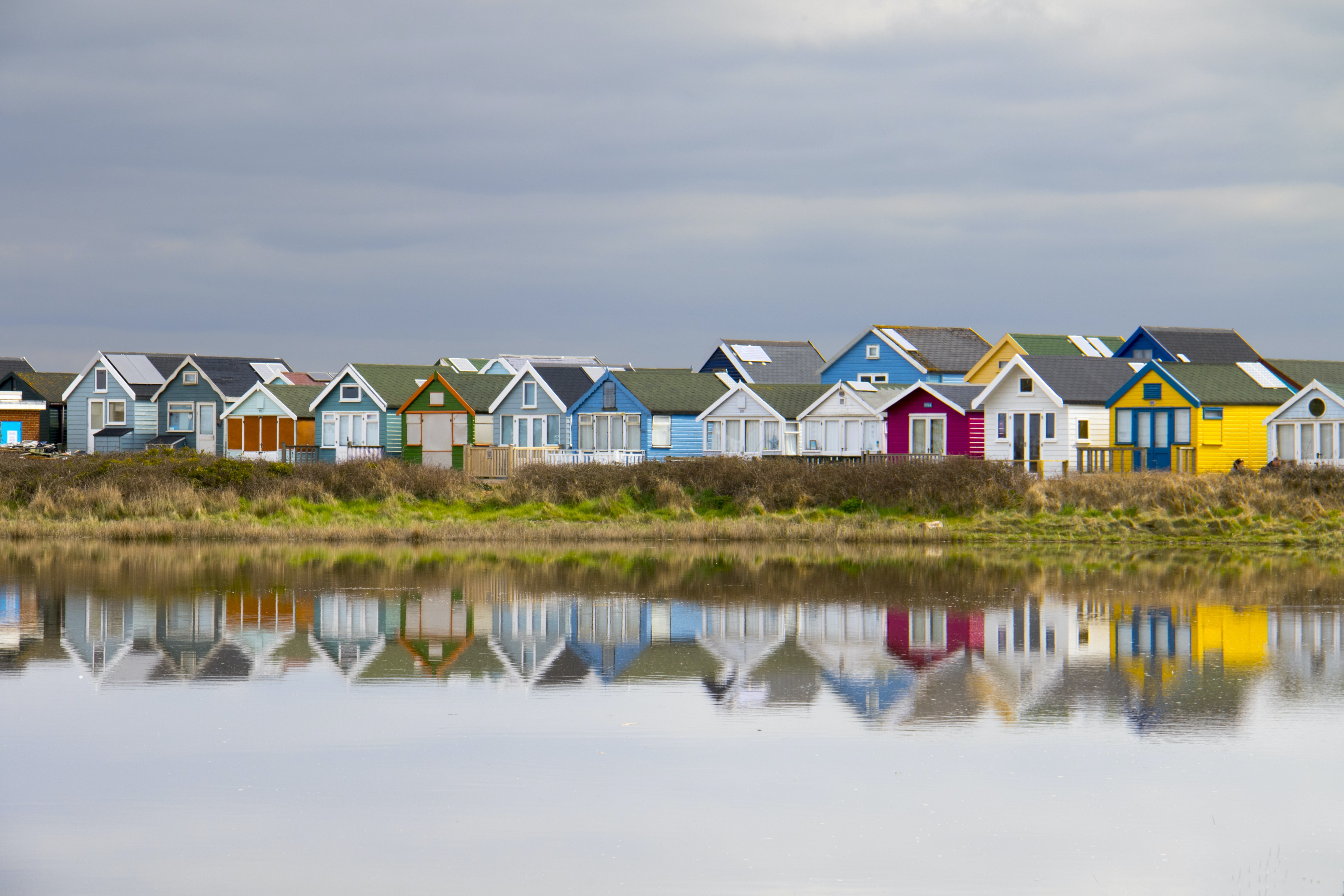 panoramic photography of colorful houses