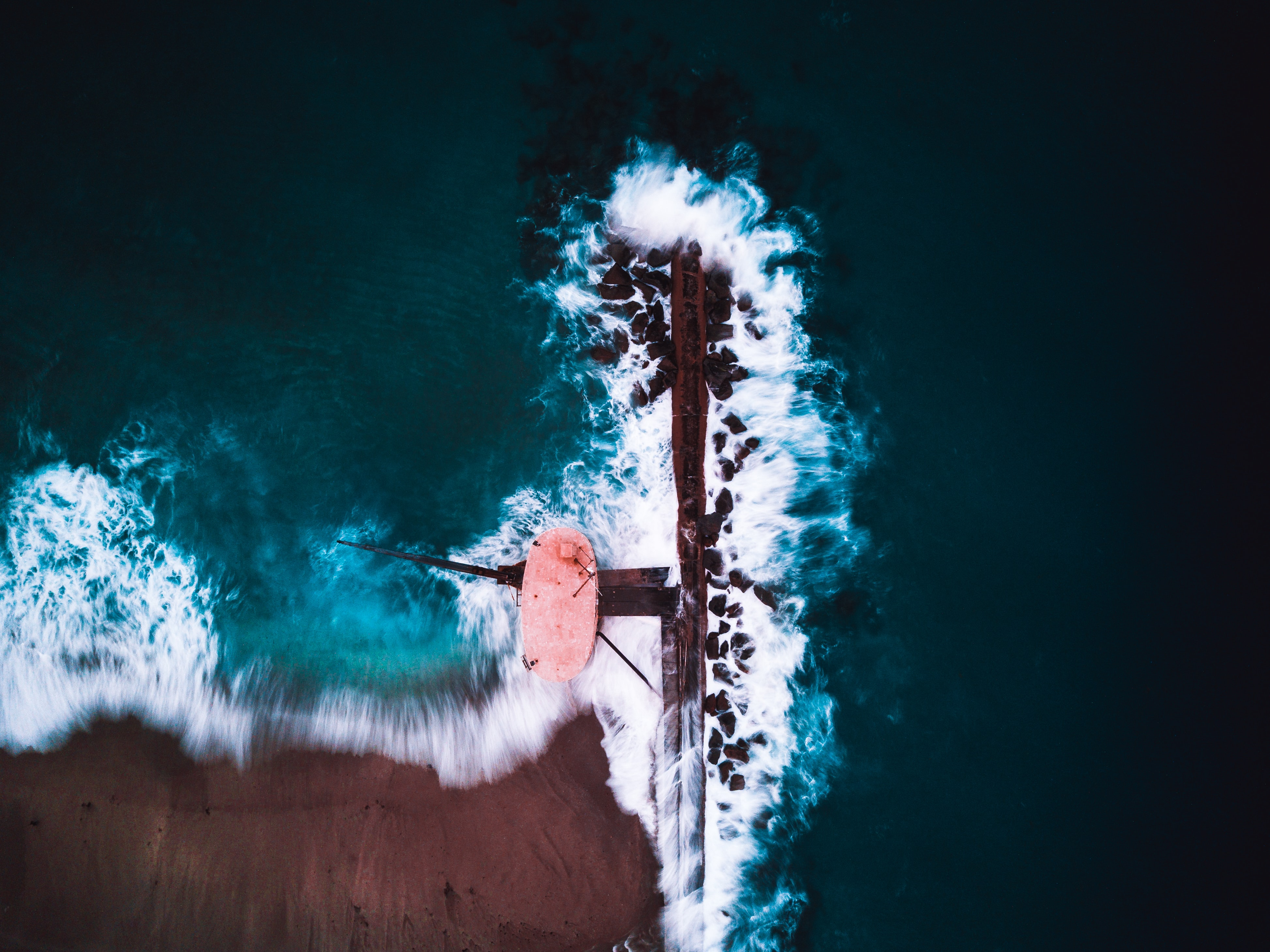 aerial photo of water