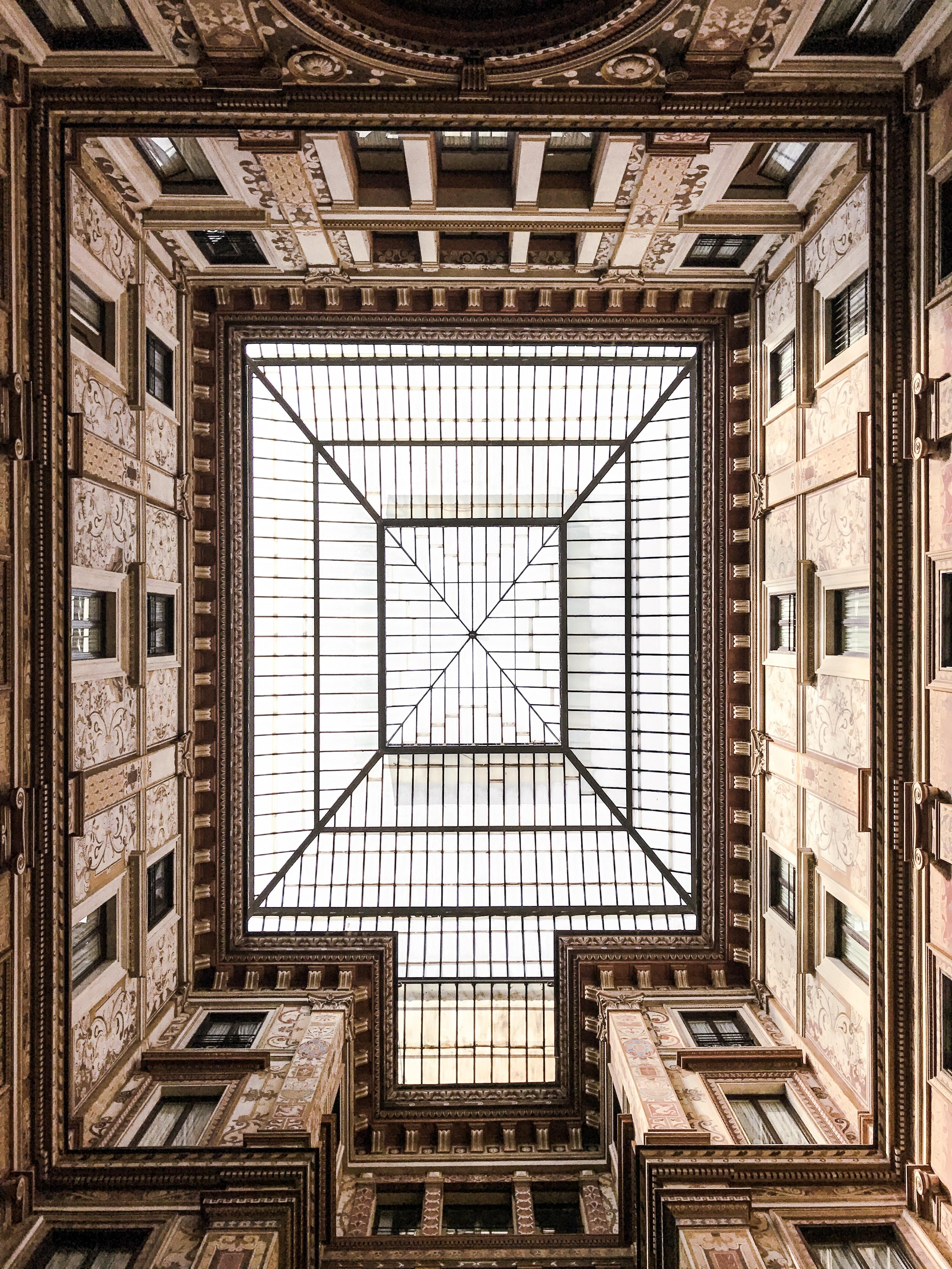 architectural photography of edifice interior