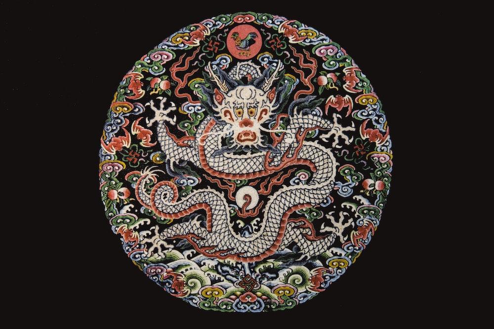 multicolored dragon wallpaper