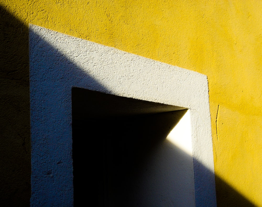 white and yellow painted wall