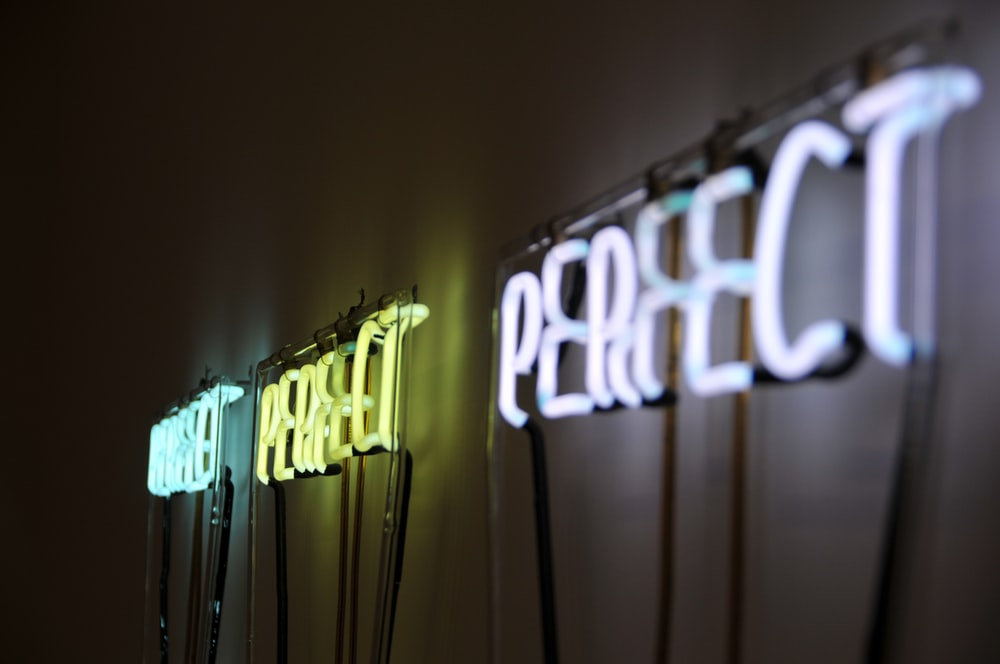 Perfect neon signage mounted on wall