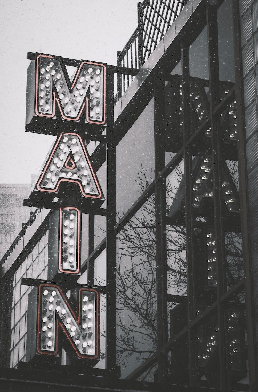 gray Main LED signage
