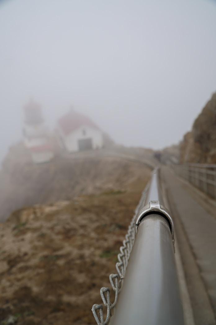 gray railings during daytime