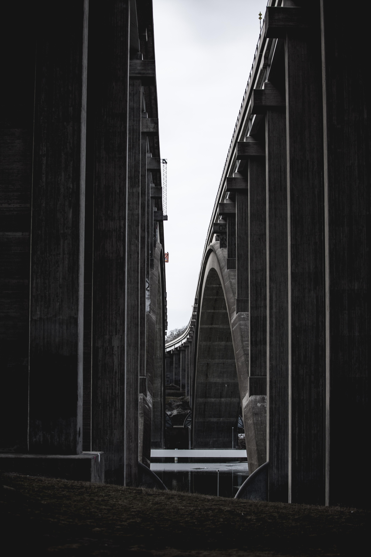 photo of gray concrete bridges