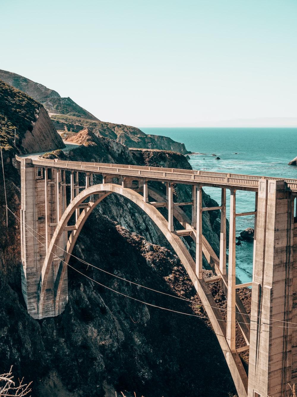 landscape photography of gray concrete bridge
