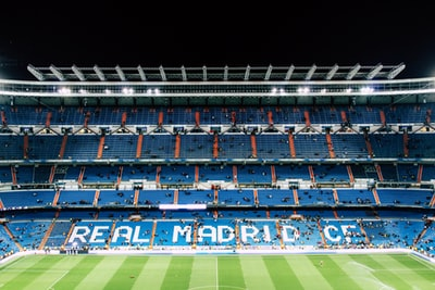 soccer field real madrid teams background