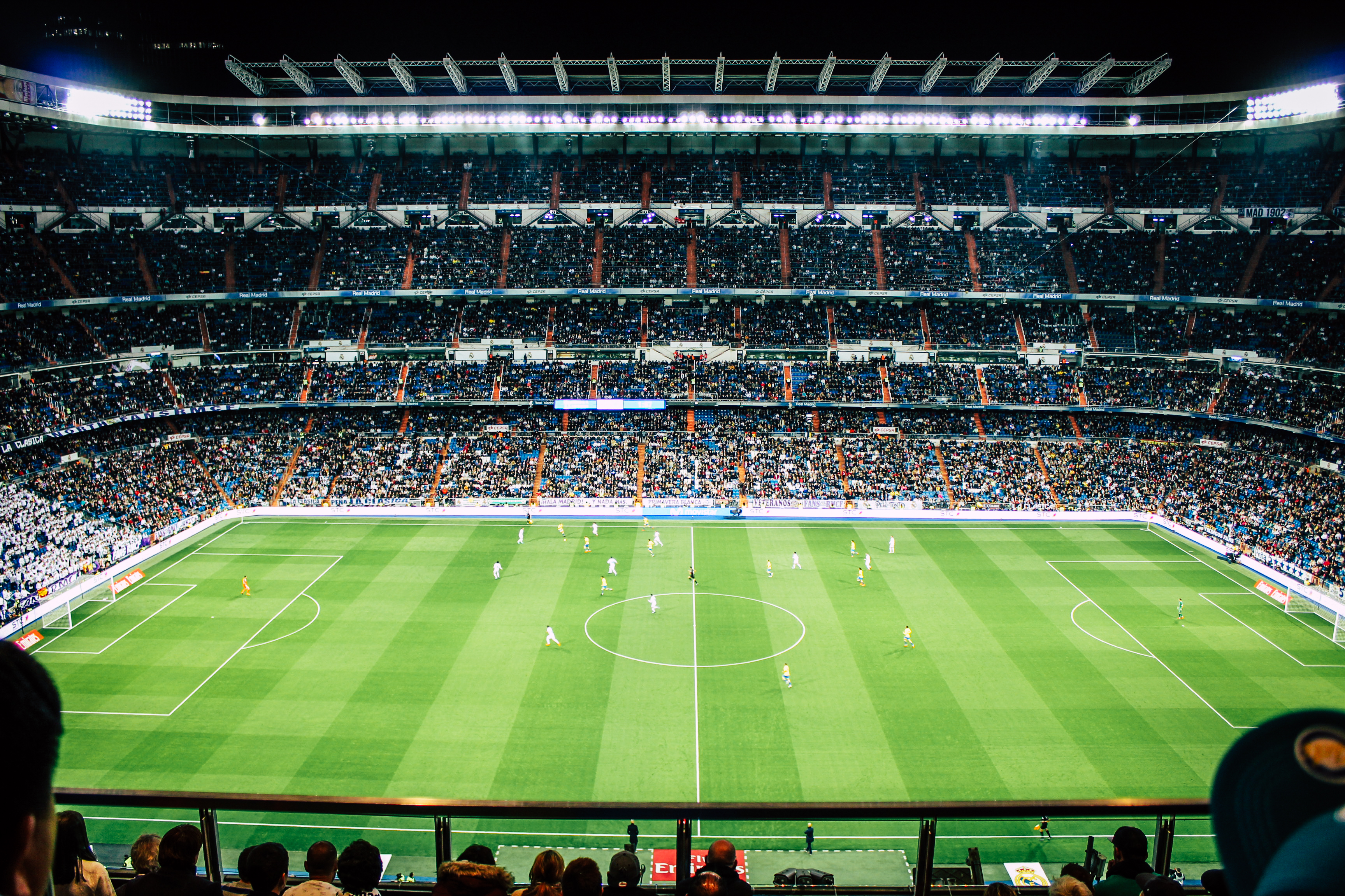 A picture of a packed football stadium