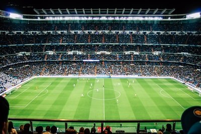 soccer field real madrid zoom background
