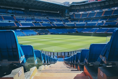 football stadium during daytime real madrid teams background