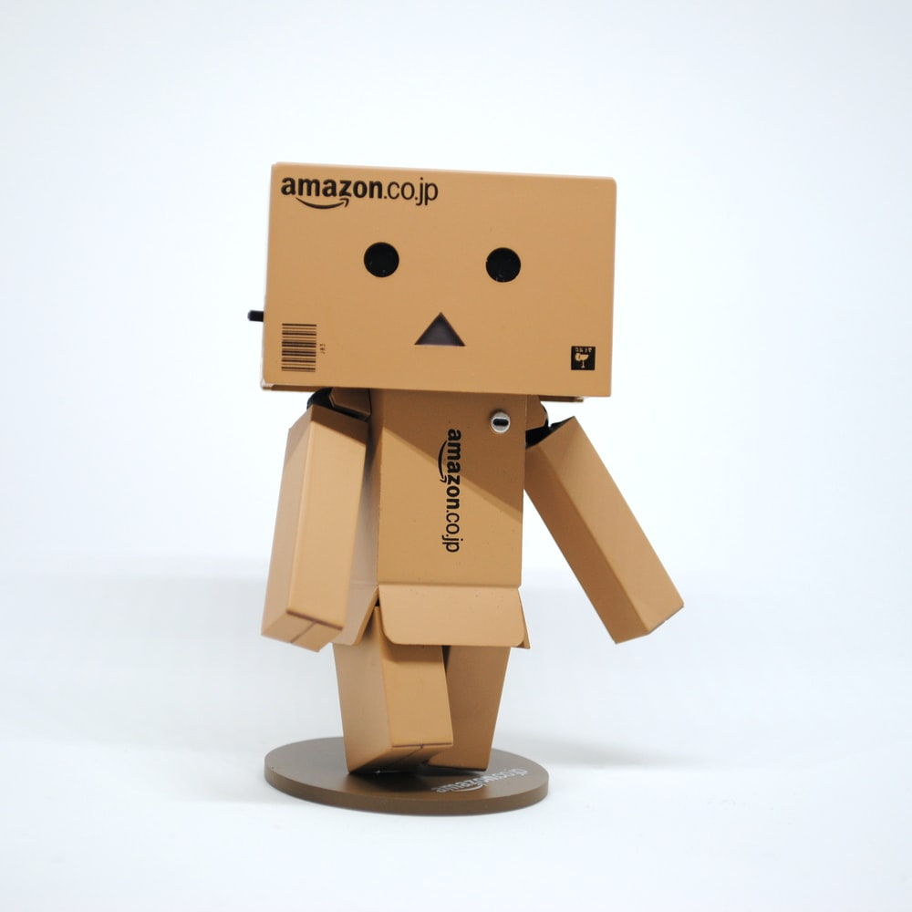 Amazon cardboard box character figurine